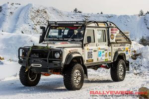 Rally racing Land Rover Defender