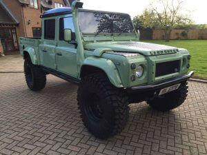 Green Land Rover Defender