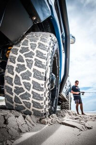 Mickey Thompson tires on sand